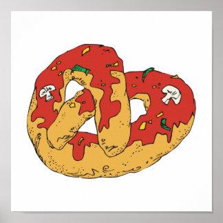 pretzel suave caliente cargado póster