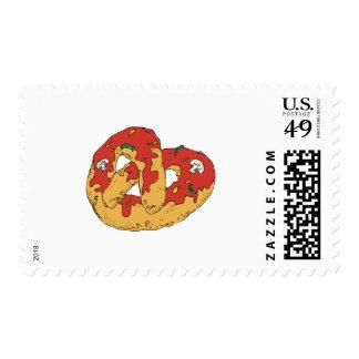 pretzel suave caliente cargado sellos
