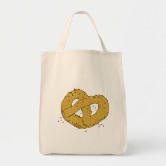 pretzel suave caliente salado bolsa tela para la compra