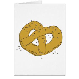 pretzel suave caliente salado tarjeta de felicitación