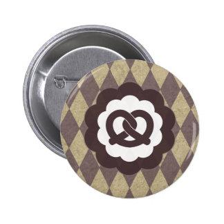 pretzel vintage button