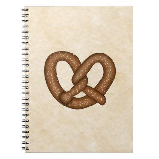 Pretzel with Beige Bkgd Notebook