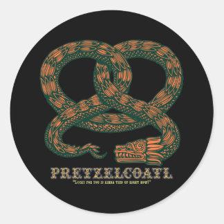 Pretzelcoatl II Classic Round Sticker