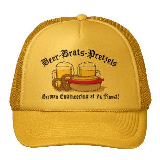 Pretzeles de los palos de golf de la cerveza alema gorros
