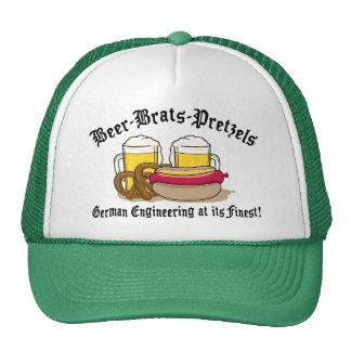 Pretzeles de los palos de golf de la cerveza alema gorro