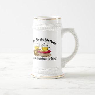 Pretzeles de los palos de golf de la cerveza alema taza de café