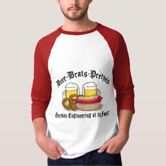 Pretzeles de los palos de golf de la cerveza camisas