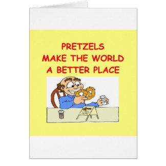 pretzeles tarjeta de felicitación