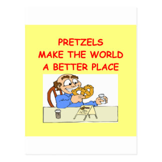 pretzeles tarjetas postales