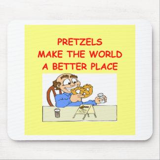 pretzels mouse pad