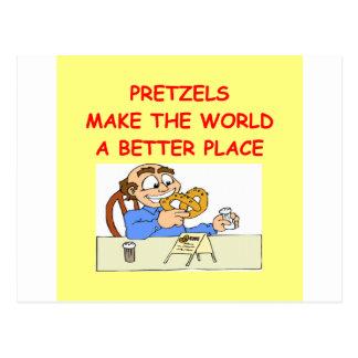 pretzels postcard