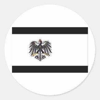 Preussen (1892-1918) Prussia Flag Round Stickers