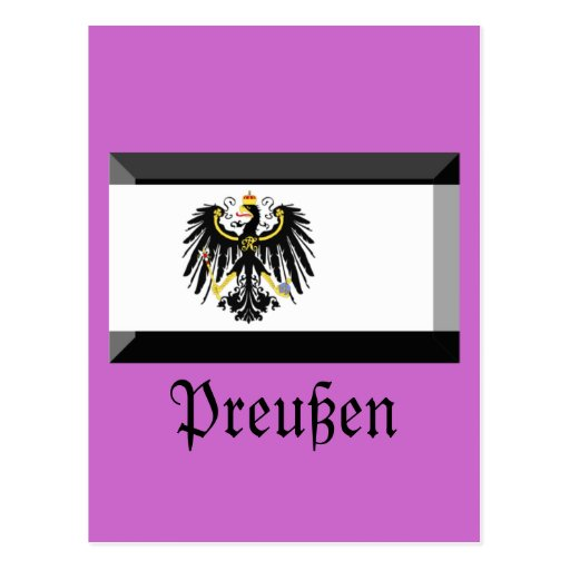 Preussen Flag Gem Postcard