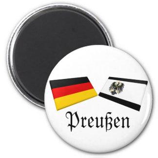 Preussen, Germany Flag Tiles Refrigerator Magnet