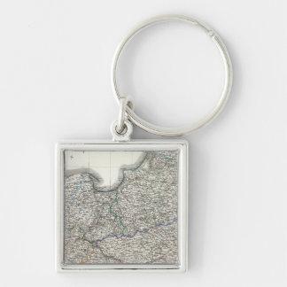 Preussen, Posen, Polen Silver-Colored Square Keychain