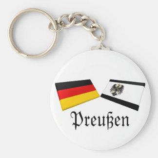 Preussen, tejas de la bandera de Alemania Llavero Redondo Tipo Pin
