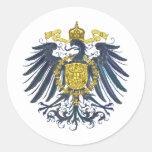 Preussian metálico Eagle Pegatina Redonda