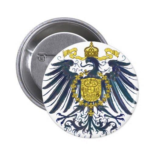 Preussian metálico Eagle Pin Redondo 5 Cm