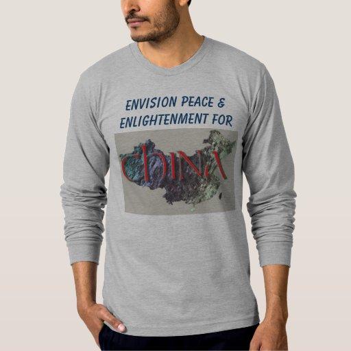 Prevea la camisa para hombre de la paz