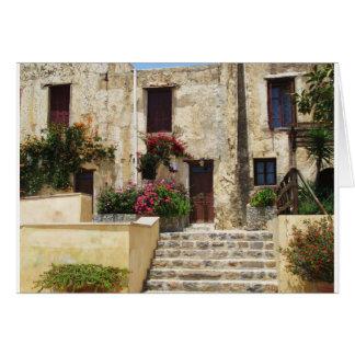 Preveli Monastery Crete Greece Card