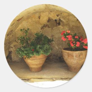 Preveli Monastery Crete Greece Classic Round Sticker