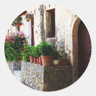 Preveli Monastery, Crete Rethymnon Greece Classic Round Sticker