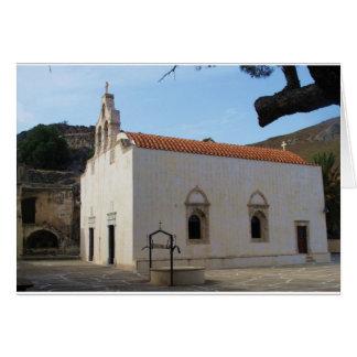Preveli Monastery located in  Crete, Greece Card