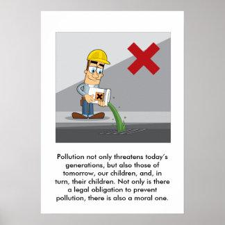 Prevención de la contaminación 001 póster