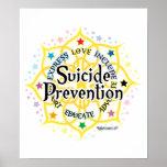 Prevención Lotus del suicidio Poster