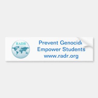¡Prevenga el genocidio, autorice a los estudiantes Pegatina Para Auto