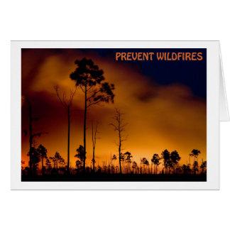 Prevenga el incendio fuera de control tarjeta de felicitación