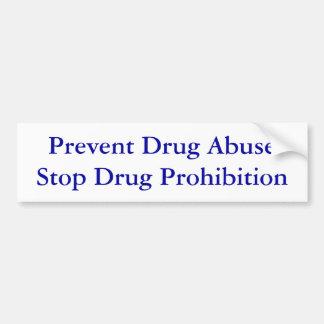 Prevenga la prohibición de la droga de la parada d pegatina para auto