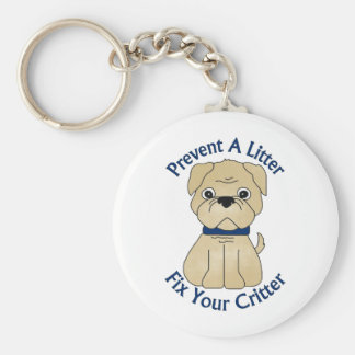 Prevent A Litter Fix Your Critter Tees, Gifts Basic Round Button Keychain