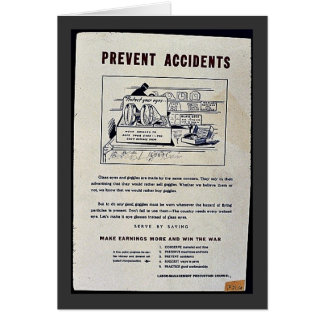 Prevent Accidents Greeting Cards