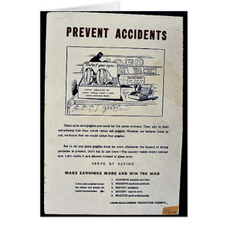 Prevent Accidents Greeting Card