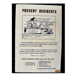 Prevent Accidents Post Card