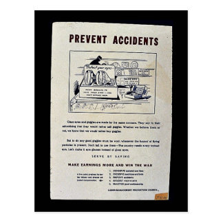 Prevent Accidents Postcard