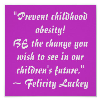 Prevent Childhood Obesity Poster