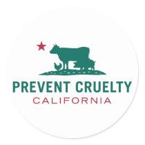 Prevent Cruelty CA Sticker Set