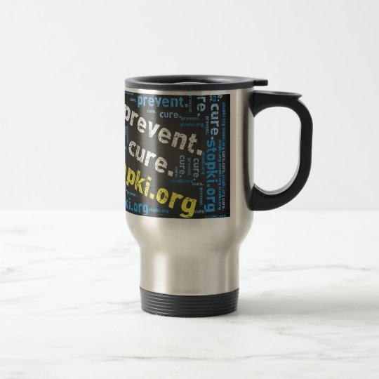 prevent.cure.stopKI merchandise Travel Mug