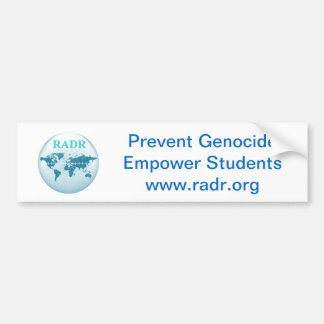 Prevent Genocide, Empower Students! Car sticker Bumper Stickers
