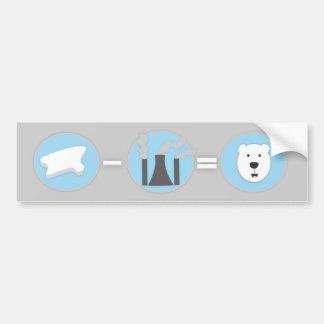Prevent Global Warming Polar Bear Bumper Sticker! Bumper Sticker