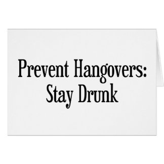 Prevent Hangovers Cards