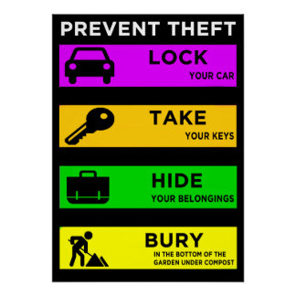 Prevent Theft - Poster