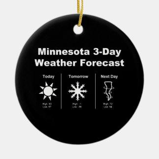 Previsión metereológica de Minnesota Adorno Redondo De Cerámica