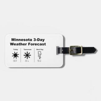 Previsión metereológica de Minnesota Etiquetas Para Maletas