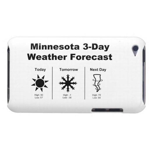 Previsión metereológica de Minnesota Barely There iPod Cárcasa