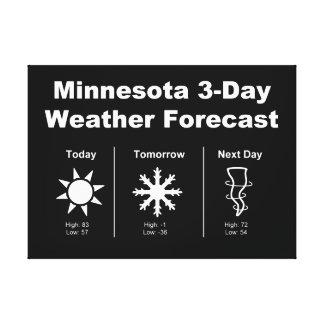 Previsión metereológica de Minnesota Impresión En Lienzo
