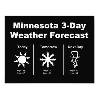 Previsión metereológica de Minnesota Impresiones Fotográficas