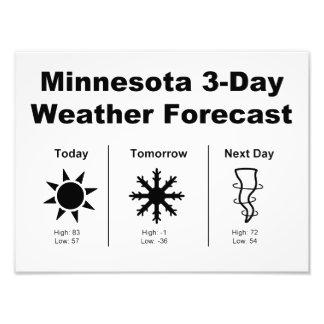 Previsión metereológica de Minnesota Cojinete
